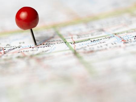 Push Pin on map