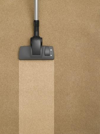 Stofzuiger reinigen van het tapijt