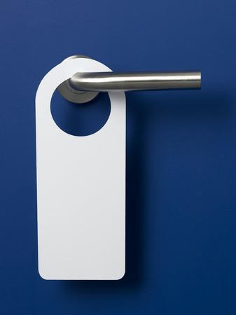 puerta: Entrar en la puerta azul Foto de archivo