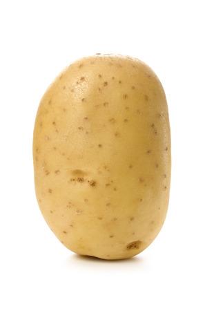 king edward: King Edward potato on white Stock Photo