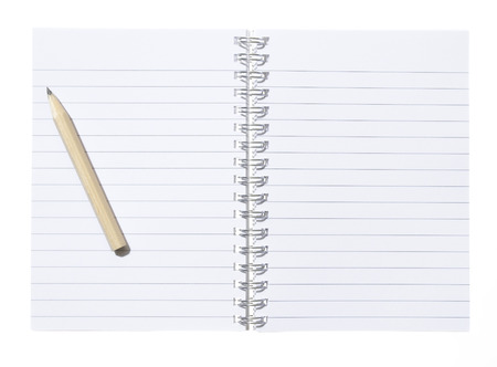 Isolated note Pad with pencil photo