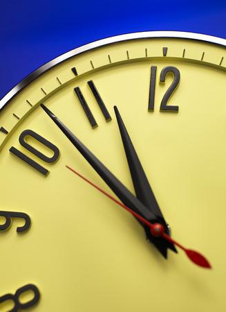 12 o'clock: Close up clock face at 12 Oclock