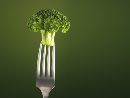 brocolli: Brocolli Isolated on fork
