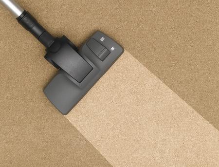 Staubsauger Reinigung des Teppichs Standard-Bild - 33834368
