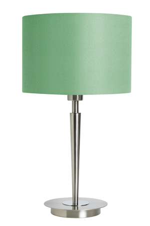 lampshade: Green lampshade isolated on white