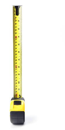 Tape Measure on a white background 版權商用圖片