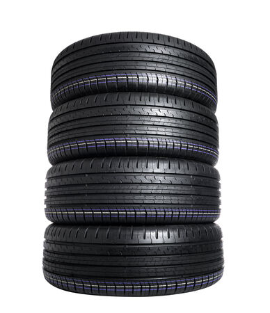 Car Tire isolated on white photo