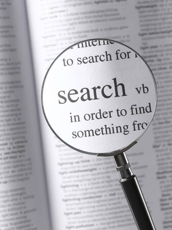 Magnifying Glass Highlighting search photo