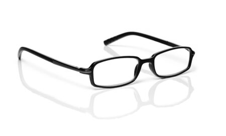 ophthalmic: Black Glasses Isolated