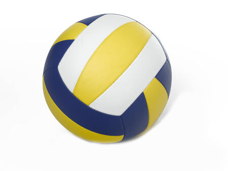 Volleyball ball on white photo