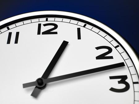 12 o'clock: Close up clock face at 12 OClock Stock Photo