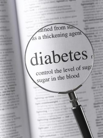 Magnifying Glass Highlighting diabetes photo