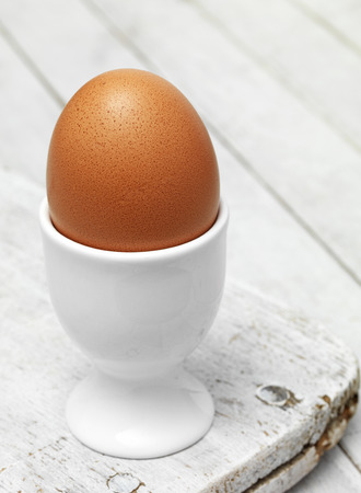 Boiled Egg on tabletop photo