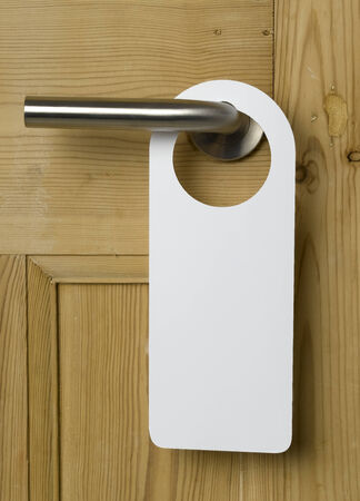Blank Door Sign on oak door