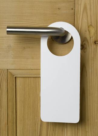 Lege Teken van de Deur op eiken deur