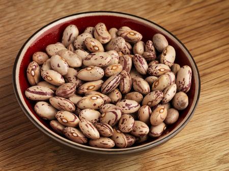 roman beans: Barlotti Beans in bowl