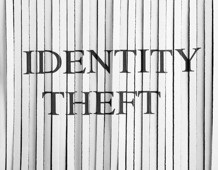 identity theft: Shredded Paper with identity theft