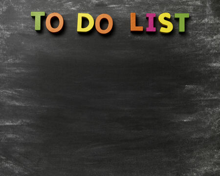 Blackboard with a To Do List photo