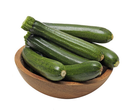 Fresh Courgettes isolated photo