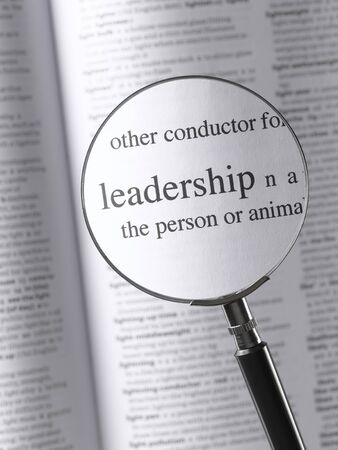 thesaurus: Magnifying Glass Highlighting Leadership
