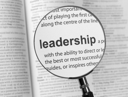 Dictionary highlighting Leadership Stock Photo