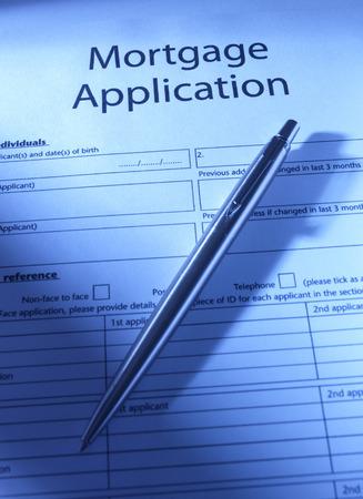 mortgage application: Mortgage Application to go Stock Photo