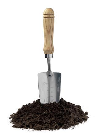 trowel: Garden trowel in soil