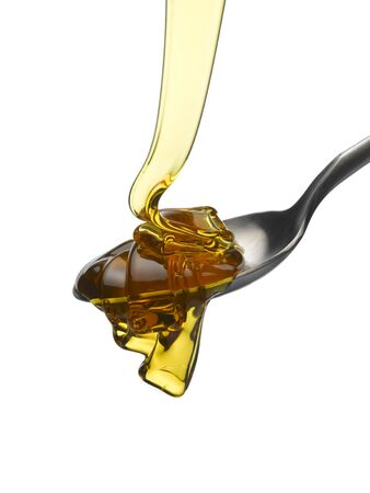 treacle: Flowing Treacle Stock Photo