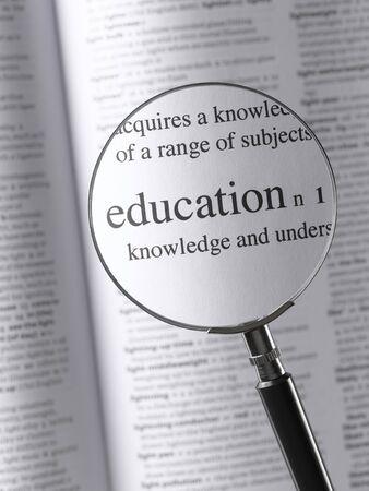 thesaurus: Magnifying Glass Highlighting Education