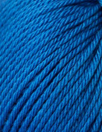 sewing item: Blue wool detail
