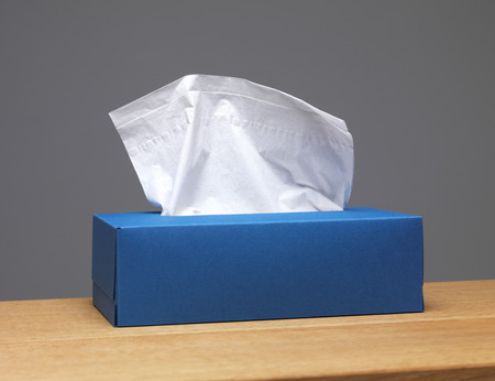 tissue: Tissue box on a sideboard Stock Photo