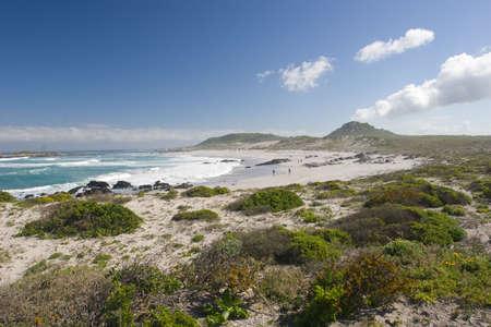 The beach and coastline at Posberg South Africa
