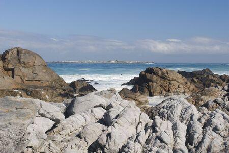 The coastline of Posberg Nature Reserve, South Africa Stock Photo