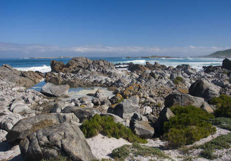 Coastline inside Posberg Nature Reserve, South Africa Stock Photo