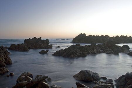 Rocky coastline of the Western Cape, South Africa