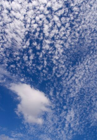 Clouds and a deep blue sky Stock Photo