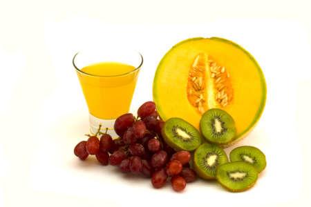 Fruit and orange juice