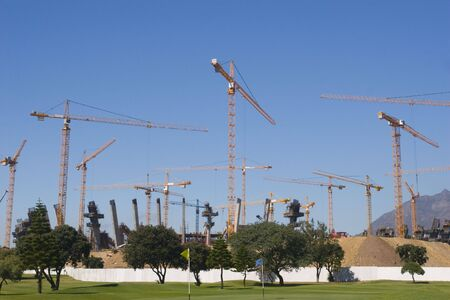 Construction of the new sports competition Ctadium,Cape Town, South Africa Stock Photo