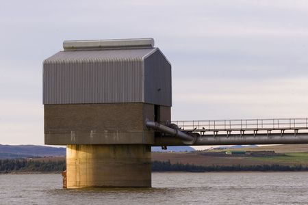 Pumphouse on a large South African dam