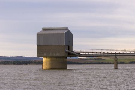 Pumphouse on a large dam
