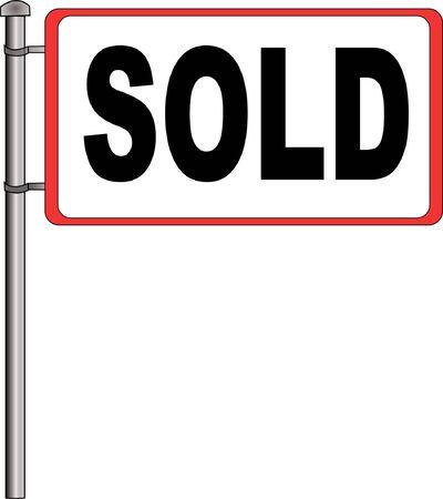 Sold sign Illustration