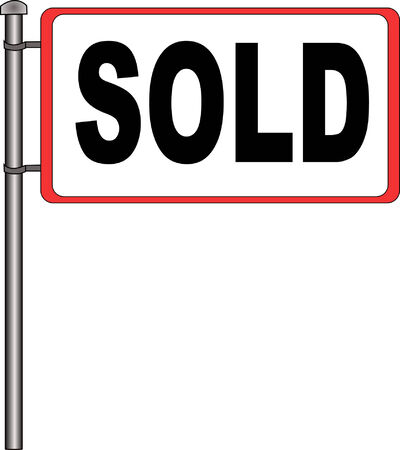 Vector image of a sold sign