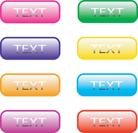 Eight vector web buttons Illustration