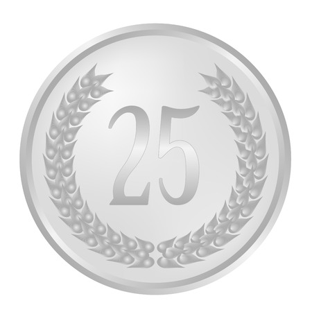 25th Anniversary laurel wreath