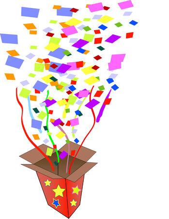 Party box exploding open Stock Vector - 3653990