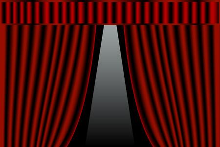 Stage curtains Illustration