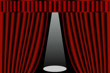 Stage curtains Stock Vector - 3654002