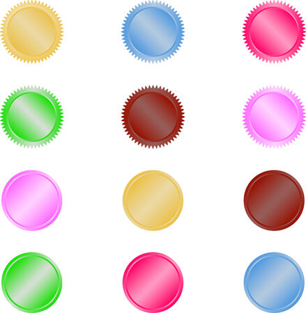 Web buttons or discs Illustration