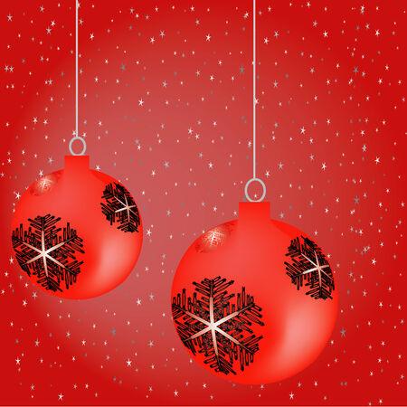 Christmas balls and stars Stock Vector - 3903424