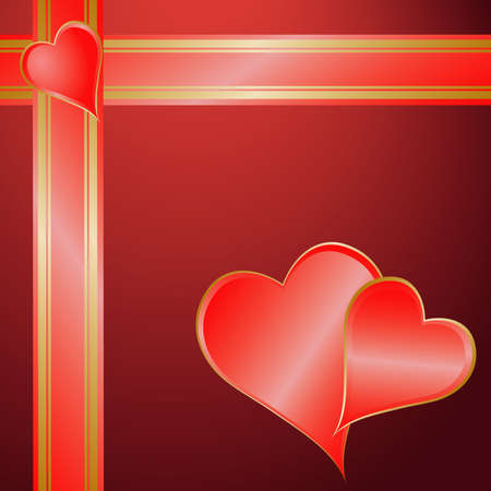 Valentine gift wrapping Vector